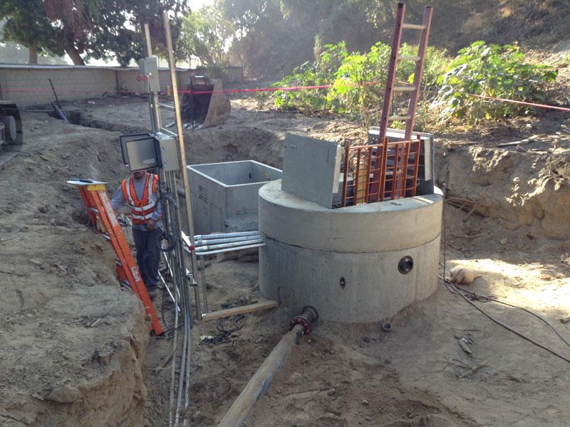 installazione impianto di sollevamento acque reflue